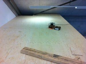 De zoldervloer is gereed. Klaar voor 500kg per vierkante meter.