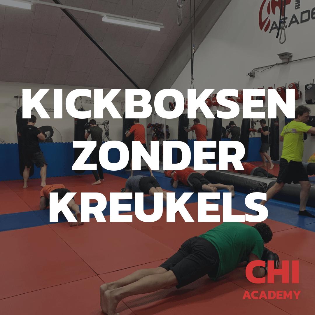 Kickboksen zonder sparren, no contact kickboksen, kracht en conditietraining